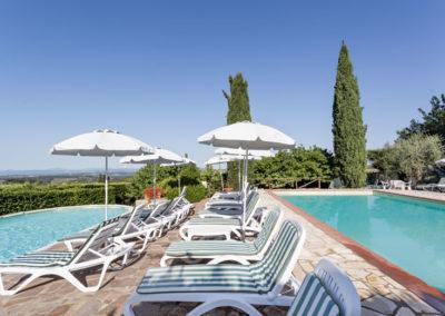Piscines avec vue panoramique BeB Villa di Sotto Chianti