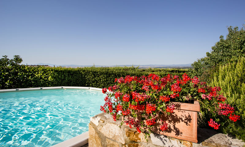 Panoramic outdoor swimming pools Villa di Sotto Chianti