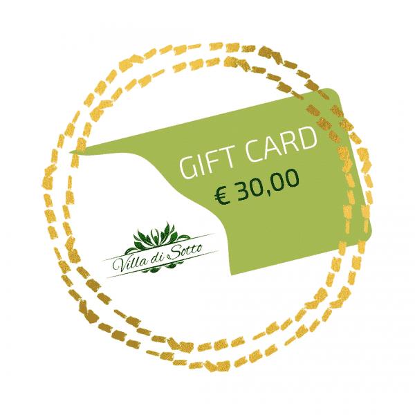 Gift Card 30,00 Euro - Villa di Sotto